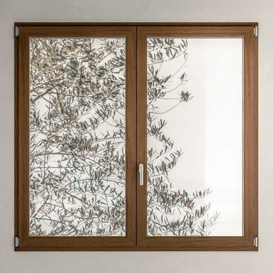 infisso legno alluminio